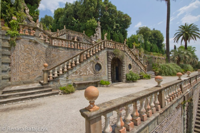 Here is one of the upper terraces of Villa Garzoni gardens, Italy.